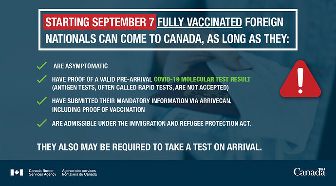 Starting September 7 fully vaccinated